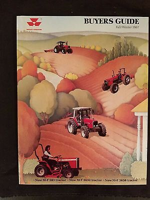 """""""Massey-Ferguson Buyers Guide Fall/Winter 1987 Illustrated Clean Tractors & More"""