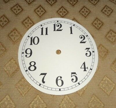 "Round Paper Clock Dial - 4 3/4"" M/T - Arabic - MATT CREAM - Face/ Parts/Spares"