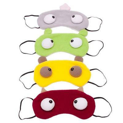 Cartoon Sleep Eye Mask Padded Shade Cover Travel Relax Aid Blindfold one