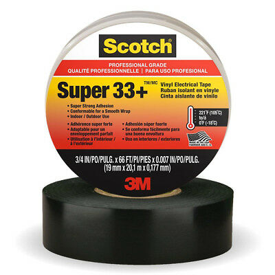 Scotch Super 33+ Professional Grade Vinyl Electrical Tape, 3/4 in x 66 ft NEW
