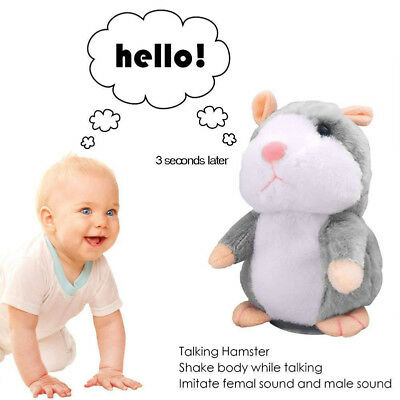 Cheeky Hamster Talking Walking Nodding Sound Record Electric Toy Xmas Gift HOT