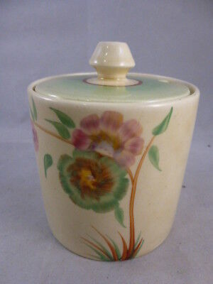 Art Deco Clarice Cliff 'Rodanthe' Jam / Condiment Pot