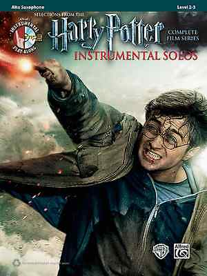 Harry Potter-Instrumental Solos-Alto Saxophone-Music Book/Cd Film Series Sax New