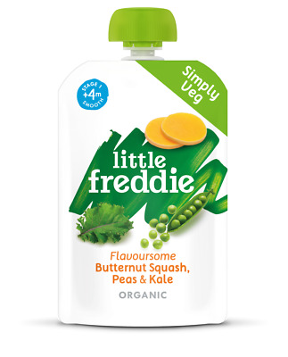 Little Freddie Flavoursome Butternut Squash Peas & Kale 100g (Pack of 6)