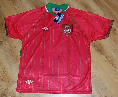 UMBRO WALES 1994 96 NEW DEADSTOCK SHIRT VINTAGE 90's FOOTBALL JERSEY