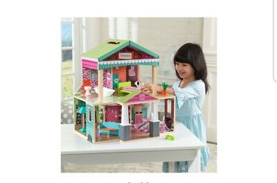KidKraft Pacific Bungalow Dollhouse with 14 accessories included