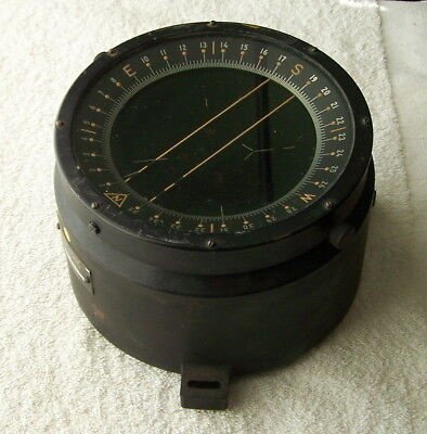 Vintage WWll Bendix A.F. U.S. Army Type D-12 Aircraft Compass Military