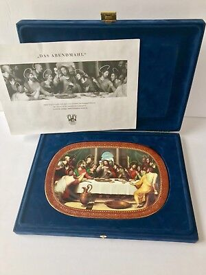 The Last Supper Wall Plate Plaque Catholic Religious Bradford Exchange GERMANY