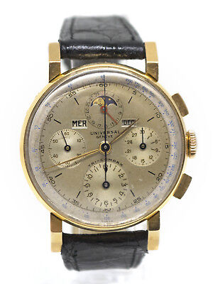"""Universal Geneve """"Tri-Compax"""" 18k Pink Gold Chronograph with Box (22289)"""