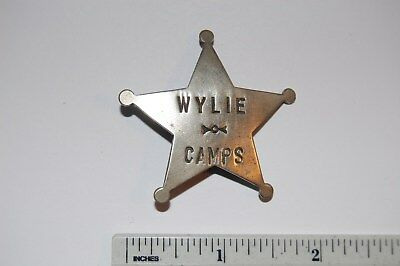 Wylie Camps Metal Badge 1880's to 1917 Existed in Yellowstone National Park