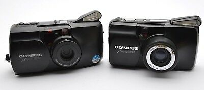 2x Olympus Mju Zoom 105 35-70 mm ALL WEATHER Proof 35mm Lens Multi AF Camera d28