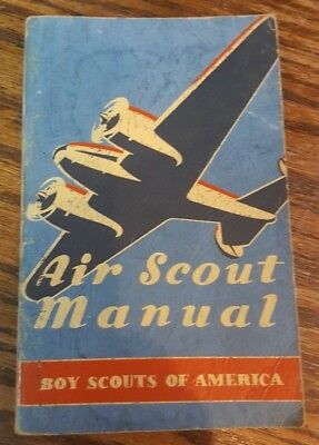 Vintage Boy Scouts of America - Air Scout Manual - Sixth Printing 1943