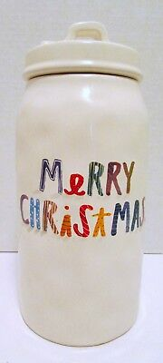 Rae Dunn Christmas Canister Merry Christmas Letter different colors and size