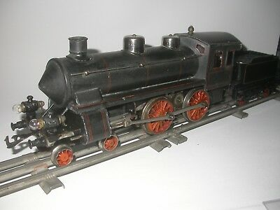 Bing steam loco & tender in scale 1. Type 4-4-0. Length approx. 50 cm