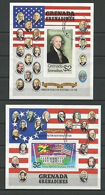 Grenada/Grenadines - Mi.-Nr. Block 12 + 13 - 200 Jahre USA - 1975