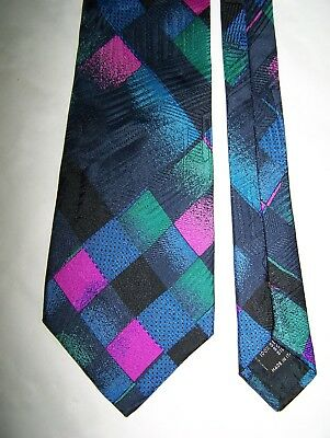 "Cravatta ""Gianni Versace"" 100% Geometric Tie Made In Italy Vtg 80"