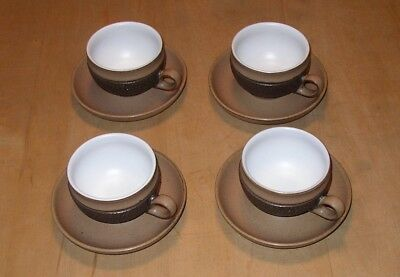 Denby Cotswold 4 cups and saucers