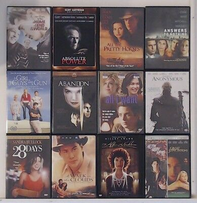 Drama Movies dvds $2.49 ea! Shipping $1.99 on the first, FREE ea. additional