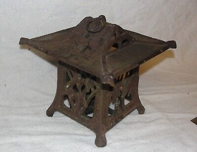 Vintage Japanese cast iron pagoda garden light
