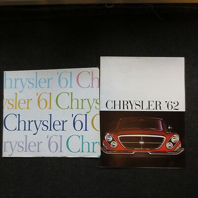 1961 and 1962 Chrysler brochures (two)
