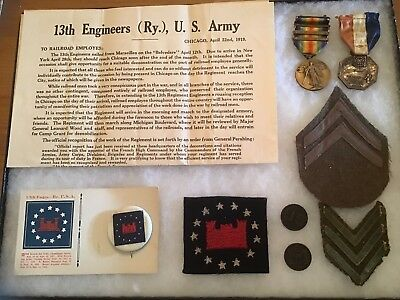 Ww1 Us Army 13Th Engineers Original Patch W/ Related Items