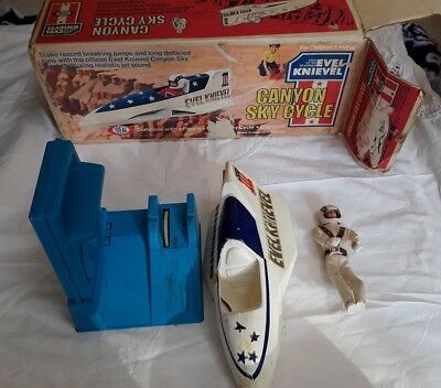Vintage Evel Knievel Canyon Sky Cycle in original Box 1974