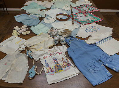 VINTAGE Large LOT Baby Toddler Clothes SHOES Belts++ MORE - Great VARIETY