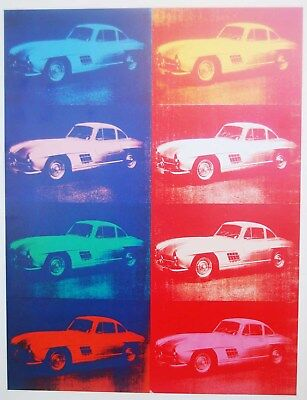 ANDY WARHOL - CARS. Lithography offset - Edition Gerd Hatje 1988 - 32x25 cm