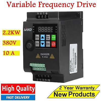 2.2KW 380V 10A Single to 3-Phase VFD Variable Frequency Drive Inverter CNC Motor