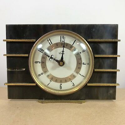 Vintage Smiths Timecal Mantel Clock . Art Deco Styled Design . Untested