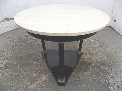 round,table,marble top,black,ocassional,tri pod base,columns,end,side table