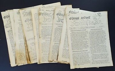 RARE 7 Magazine Newspaper Archive GOING HOME Korea War USAT HB Freeman 1946 WWII