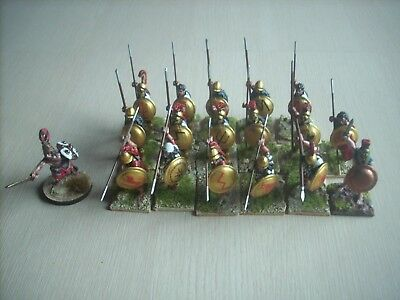 28mm foundry well painted wargaming figures ancients greeks macedonians hoplites