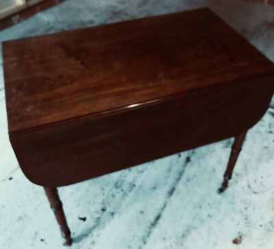 Beautiful Victorian Mahogany Drop-leaf Pembroke Tea Table With Drawer