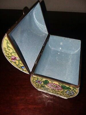 Gorgeous Enamel Box. Vintage.