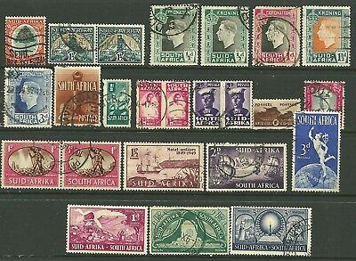 British Colonies,King George VI.USED. SOUTH & S.W. AFRICA Good cat. Value