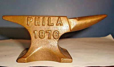 1876 Philadelphia Centennial Exposition World's Fair BRASS ANVIL PAPERWEIGHT