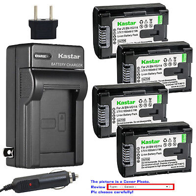 Kastar Battery AC Charger for JVC BN-VG114 JVC Everio GZ-MS240 Everio GZ-MS250
