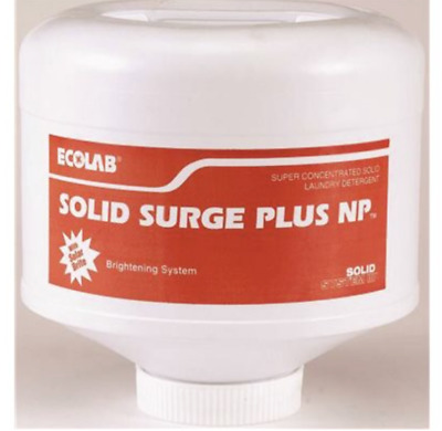Case of 4 Ecolab 17905 Laundry Soap, Commercial-Grade Solid Surge 9 lb Container
