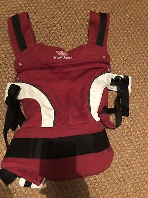 Manduca Baby Carrier - With Baby Support - Red