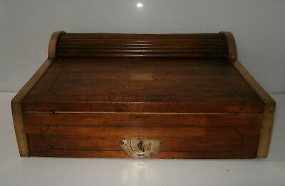 Exceptional Antique Military Officer Colonial Raj Camphor Wood Writing Box c1850