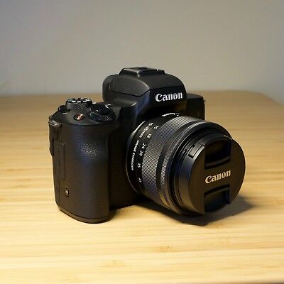 Canon EOS M50 Mirrorless Camera - Black w/ 15-45mm Lens - Great Condition