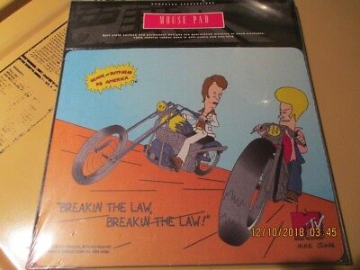 """Beavis & Butthead """"BreakinThe Law"""" Mouse Pad Mousepad licensed Comp. Express."""