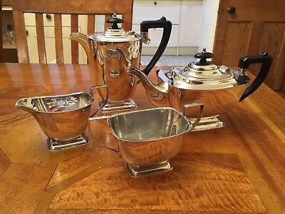 Falstaff Plate Art Deco 4 Piece Tea Set