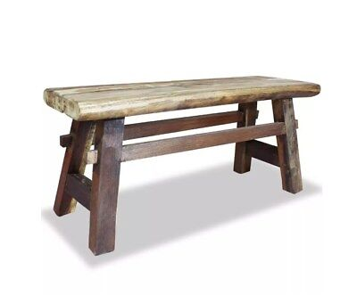 Miraculous Rustic Dining Bench Small Vintage Furniture Solid Wood Seat Ibusinesslaw Wood Chair Design Ideas Ibusinesslaworg