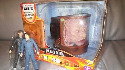 Dr Doctor Who The Face Of Boe & Two Extra Figures Captain Jack & 10TH Doctor NEW