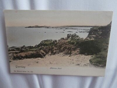 Guernsey, Channel Islands - Alderney Point - early colour postcard