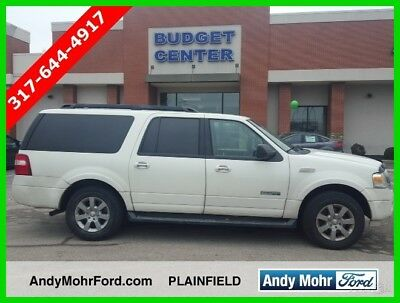 2008 Ford Expedition XLT Used 08 Ford Expedition EL XLT 5.4L V8 Auto 4x4 SUV White Cloth White Reserve