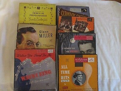 Lot of 7 Vintage RCA Victor Musical Smart Sets-45 RPM's In Their Own Containers