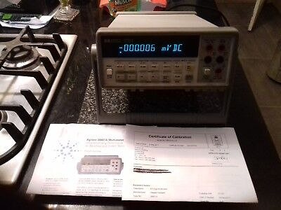 A UKAS Calibrated Agilent HP 34401A 6.5 Digit Multimeter KEYSIGHT HP
